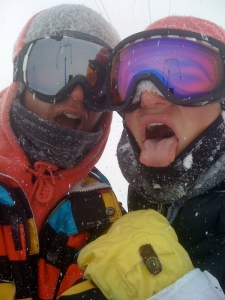 stoked about the fresh pow!!