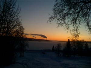 sunrise in Ostersund