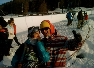 Cilka and me stoked about her 2nd place