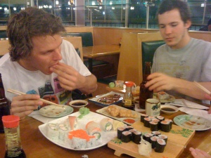 and my broos eat sushi too, just all u can eat sushi!!!