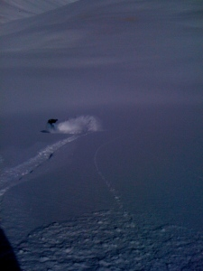 Prendi is riding powder like a reaaal G