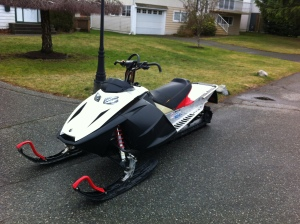 picked up my new sled in vancouver