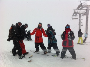 the crew: Kyle, Beckna (guide), Wiig, me and Stevie! Tim is missing, he is taking the picture!